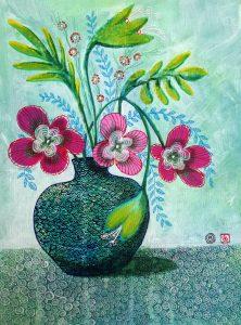 bloem stilleven blad schilder