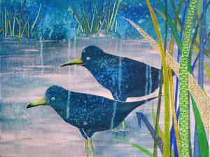 water met vogels