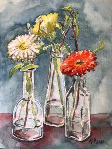 aquarel 1 bloem
